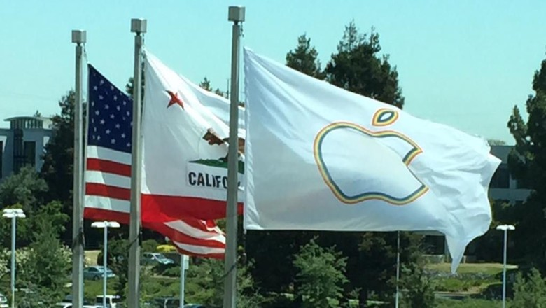 The Pride Flag at Apple HQ