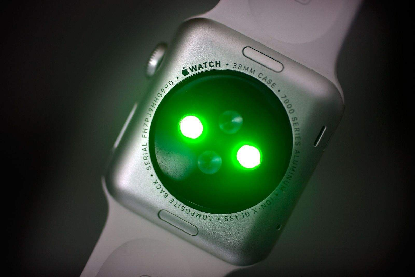 The heart rate sensor has green and infrared LED modes