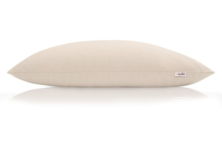 The Hullo buckwheat pillow is all-natural and made in the USA.