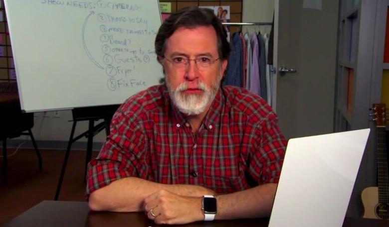 Colbert's got a new show, a new beard, and a new watch.