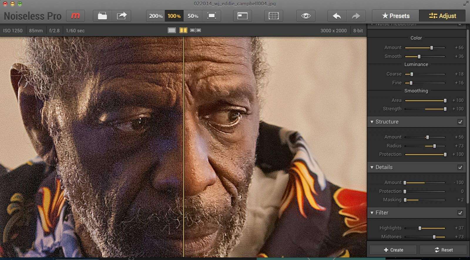 Macphun's new software, Noiseless, makes removing the pixel distortion known as noise easy.