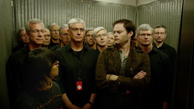 An elevator full of Tim Cook-alikes.