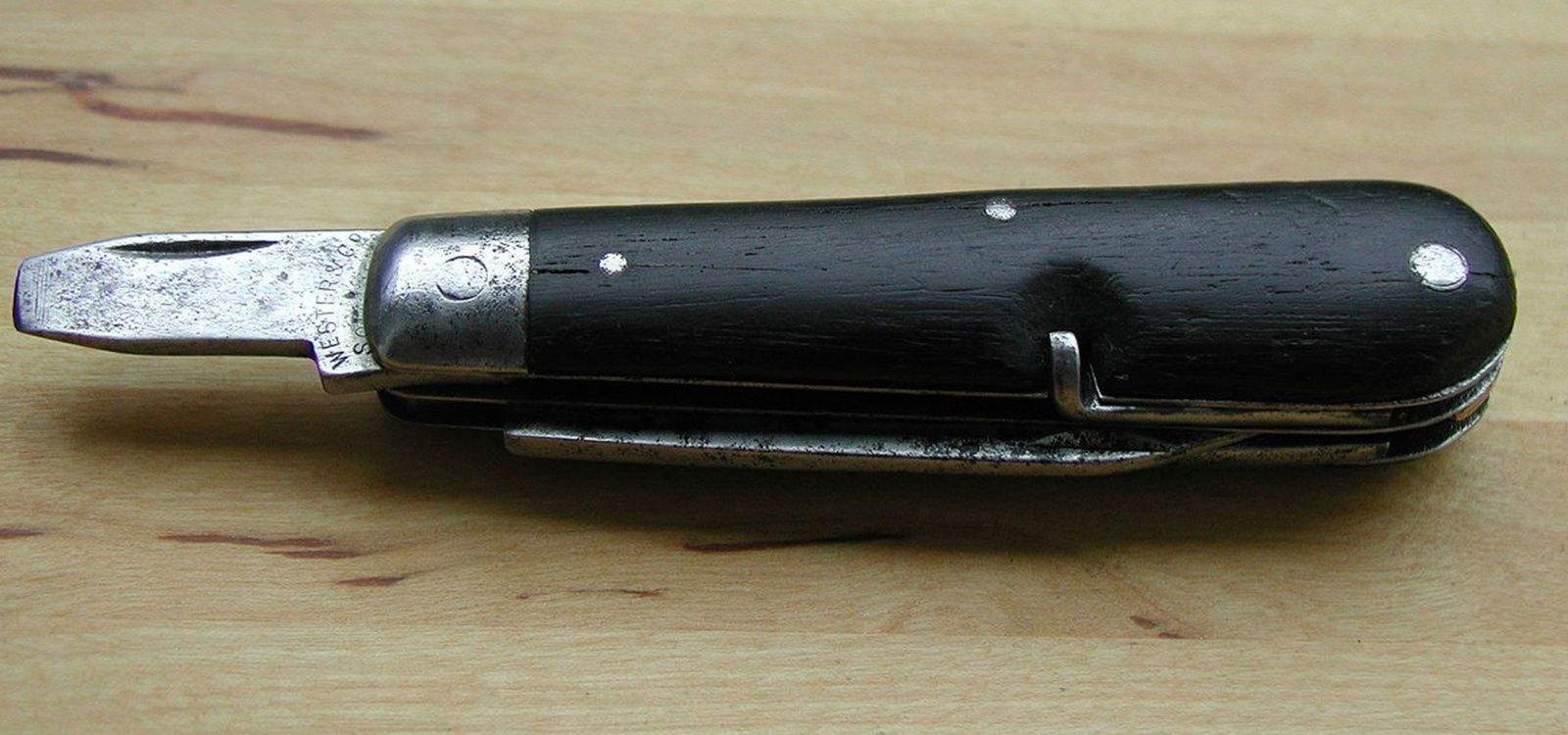 The first Swiss Army Knife, which was issued to soldiers in October of 1891.