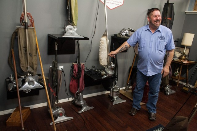 Tom Gasko is the curator of the vacuum cleaner museum. He owns at least one of every vacuum cleaner model ever made in the U.S.