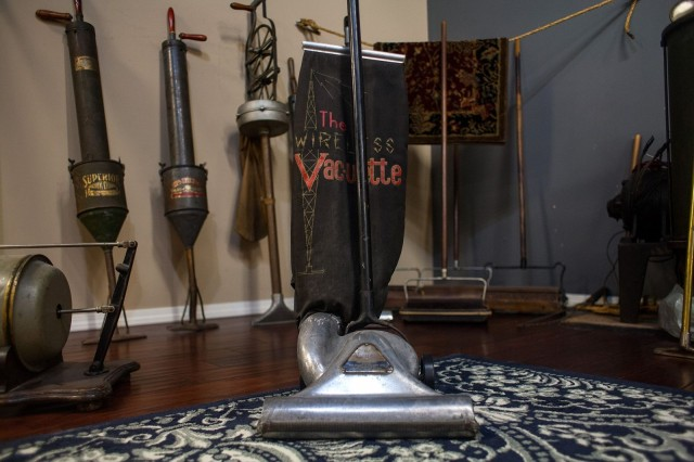 Sweepers prior to the invention of the portable vacuum cleaner.