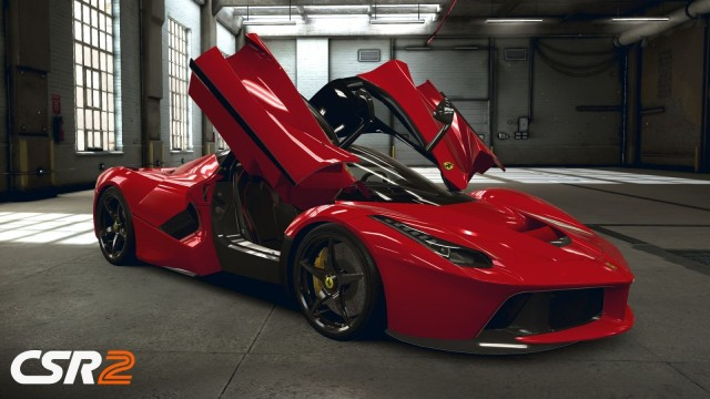This Ferrari has wings.
