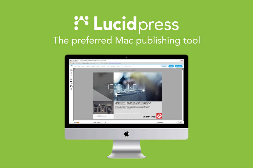 Lucidpress gives you all the power of Publisher or InDesign.