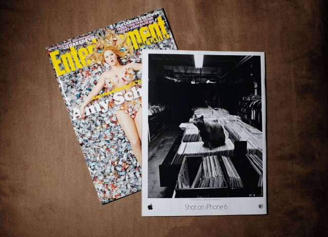 Mainenti's record store cat made the back covers of Entertainment Weekly and the Italian edition of Rolling Stone.
