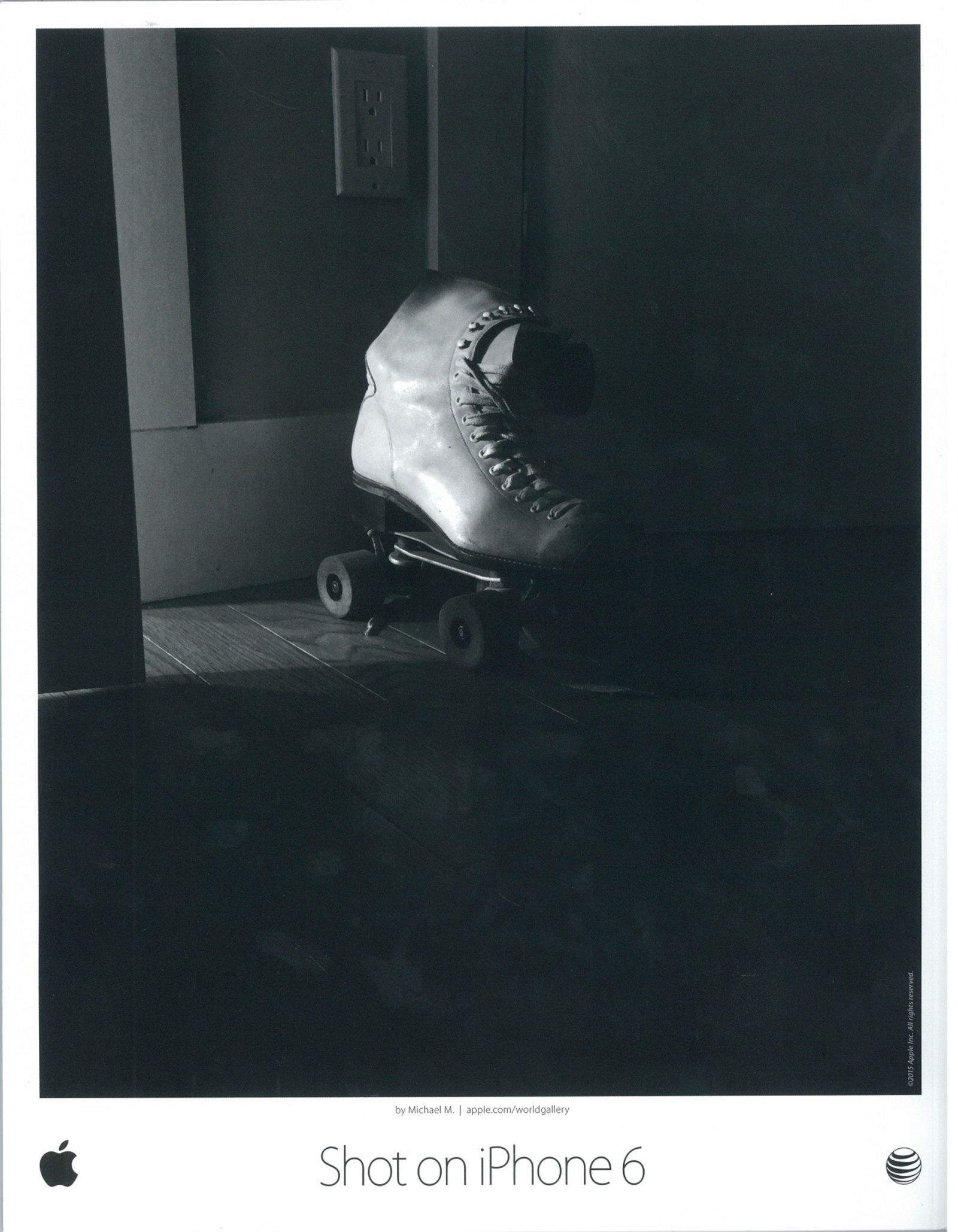 This vintage roller skate was one of three photos by photographer Michael Mainenti that were chosen by Apple for the