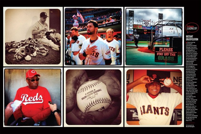 A sampling of Mangin's iPhone baseball photos as they appeared in Sports Illustrated in July 2012.