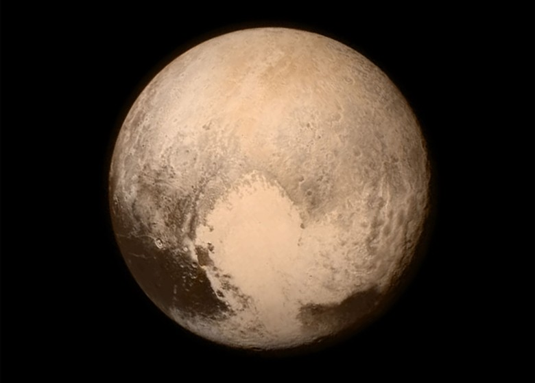 When NASA shared this image of Pluto with its Instagram followers Tuesday, scientists called it a love letter.
