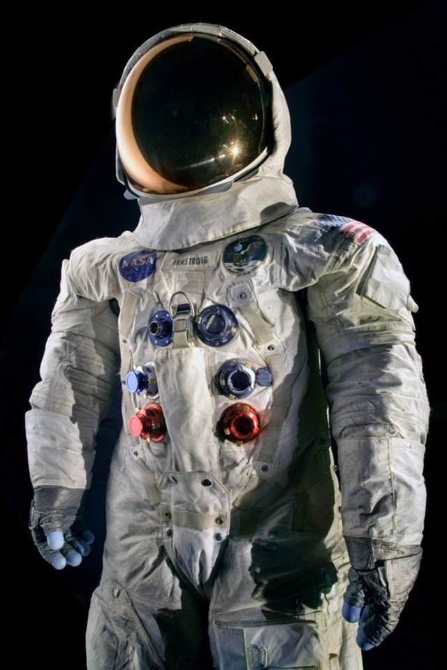 Neil Armstrong wore this suit in July 1969 when he became the first man to walk on the moon.