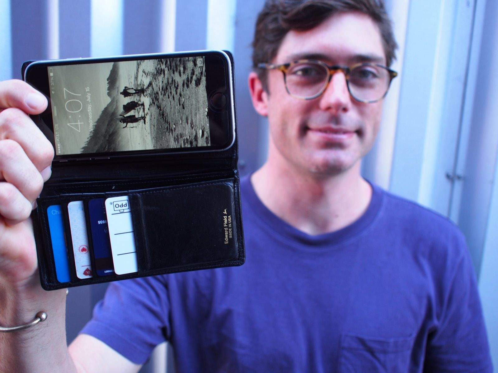 Teddy Winthrop's iPhone wallet case was inspired by his forgetfulness. His dad advised him to get a personal organizer; he made a leather iPhone wallet case instead.