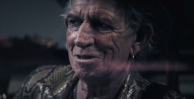 Keith Richards' video for