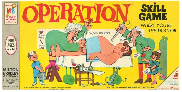 Operation was first produced by Milton Bradley and quickly became popular after it hit stores in 1965.