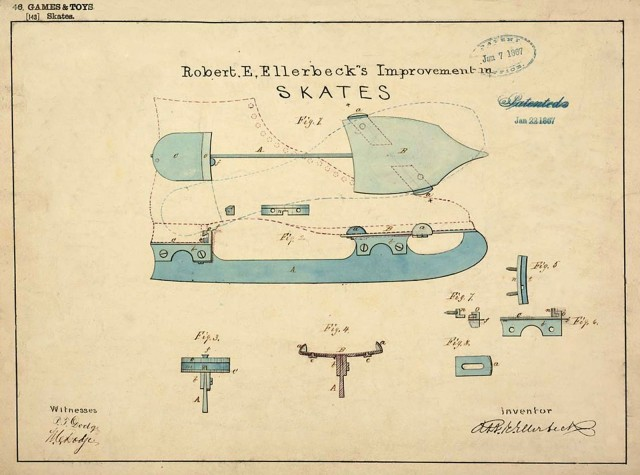An early version of ice skates.
