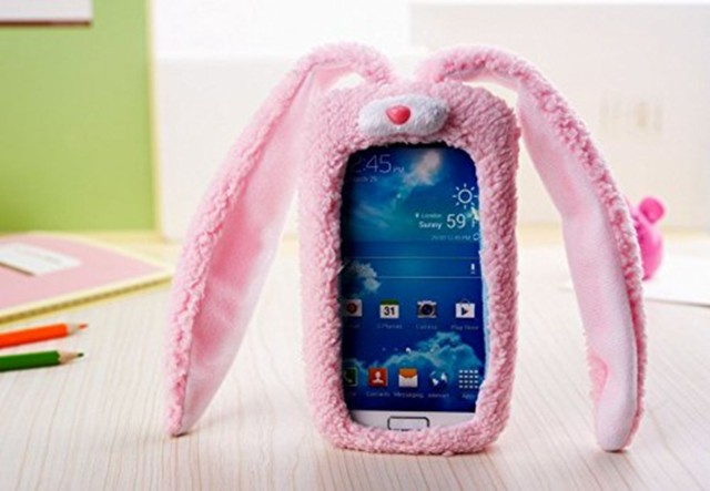 An iPhone with rabbit ears.