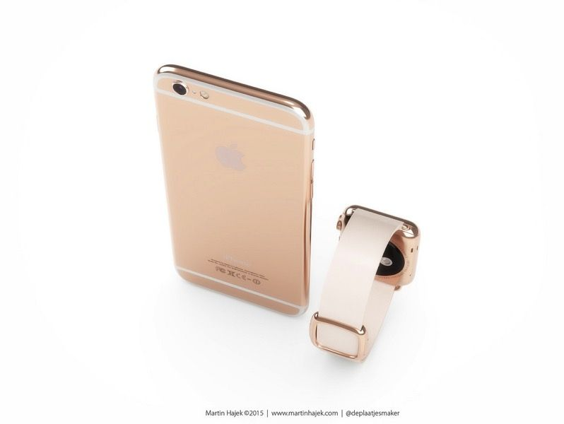 The iPhone 6s will reportedly launch in rose gold, alongside a similarly colored Apple Watch Sport.