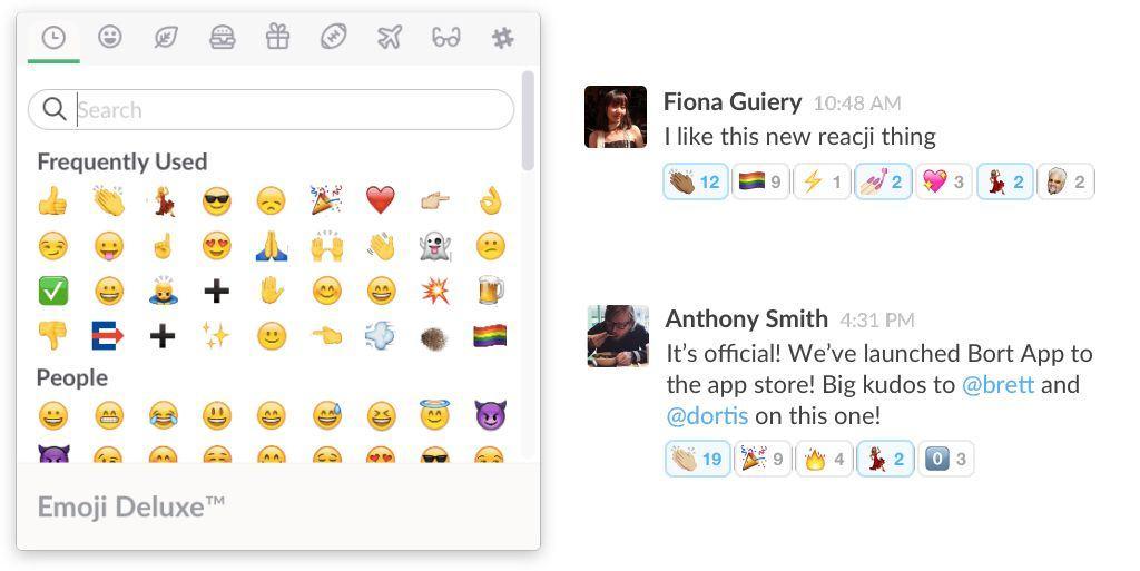 slack-emoji-reactions