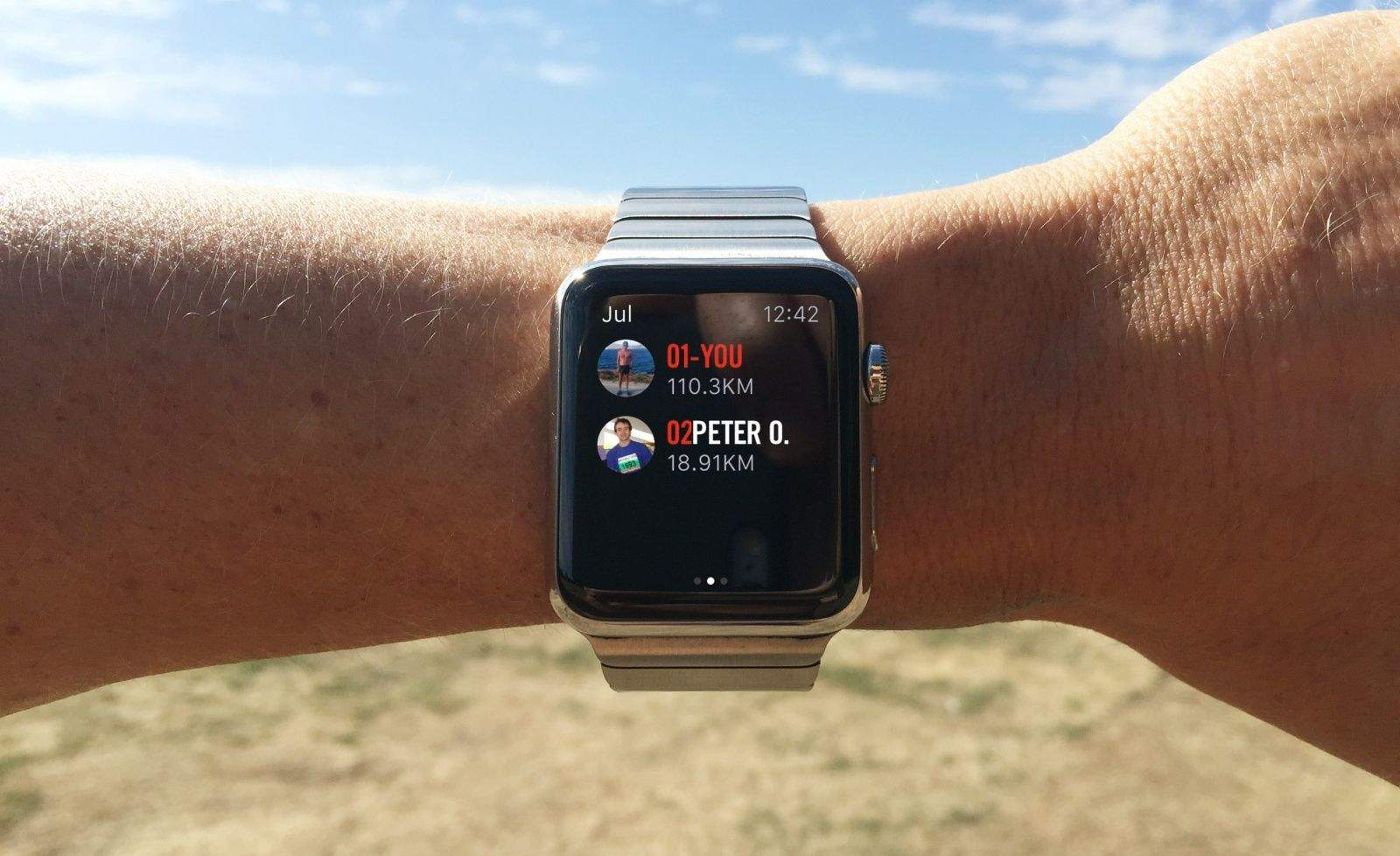 Nike+ shows your running buddies in a leaderboard. (Sorry Peter).