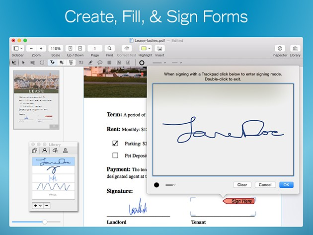 PDFPen 7 lets you get into your PDF files to edit, add text, and lots more.