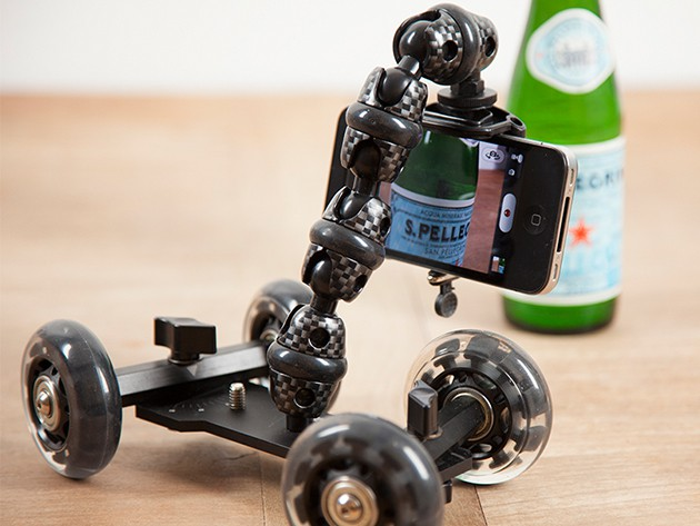 This portable stabilizer dolly can add a cinematic flourish to shots taken with any camera-equipped phone