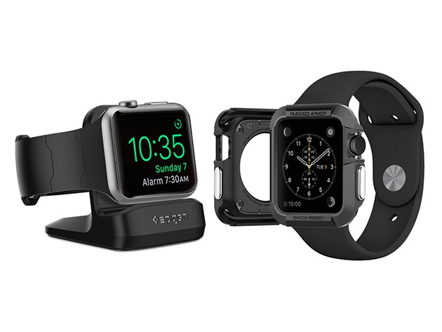 Spigen's protector and charging case make sure your Apple Watch can take a licking and keep on ticking.