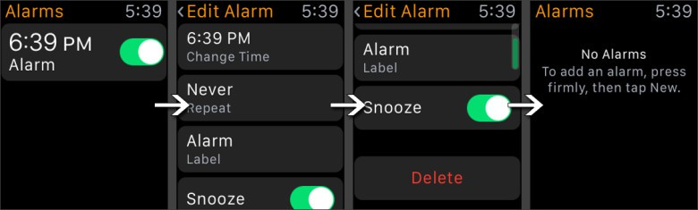 How to clear your Apple Watch alarms manually