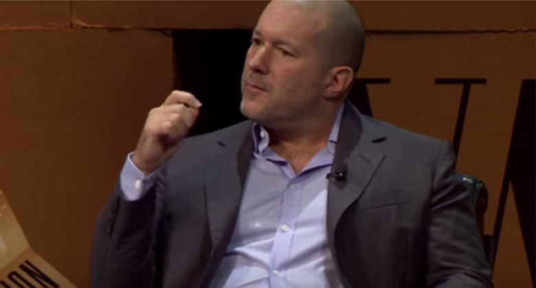 Apple's Jony Ive at least year's Vanity Fair Summit.