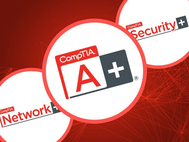 These 3 courses will get your IT skills up to snuff for CompTIA's A+, Network+, and Security+ certification exams