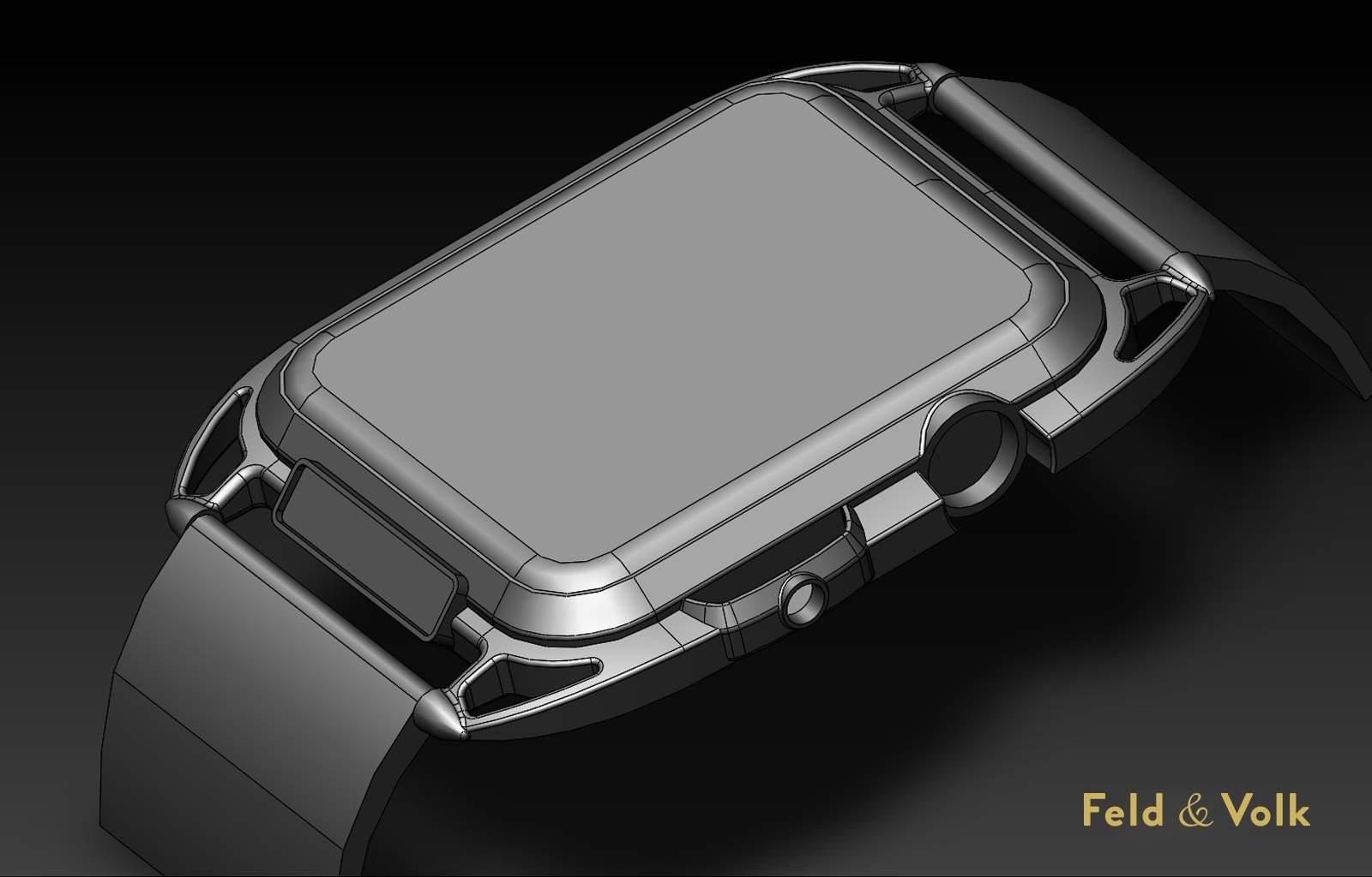 Carbon-fiber Apple Watch concept.
