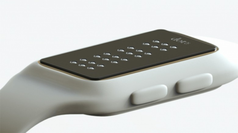 The Dot smartwatch has a changing braille face to help visually impaired users receive digital information.