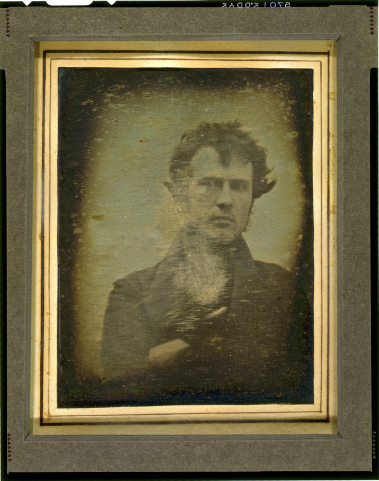To make this photo in 1839, Robert Cornelius had to sit as still as possible for as many as 15 minutes.