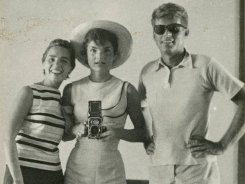 Jackie Kennedy, a photographer before she was First Lady, snapped this picture of her husband and sister-in-law.