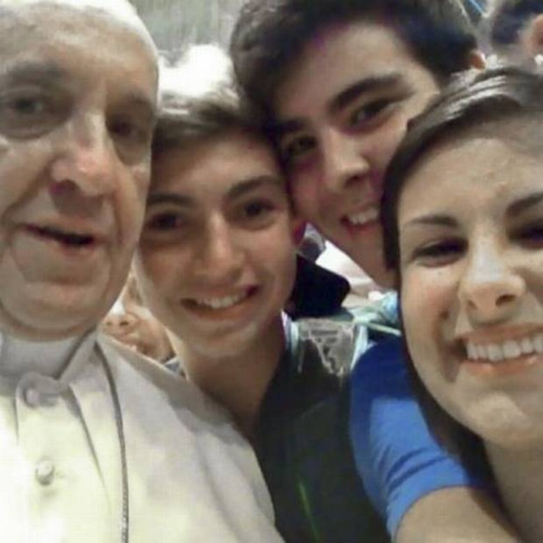 This selfie with Pope Francis went viral in 2013.