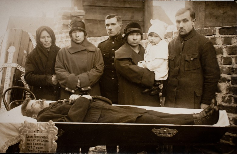 Family photos with the dead were common in the early years of photography.