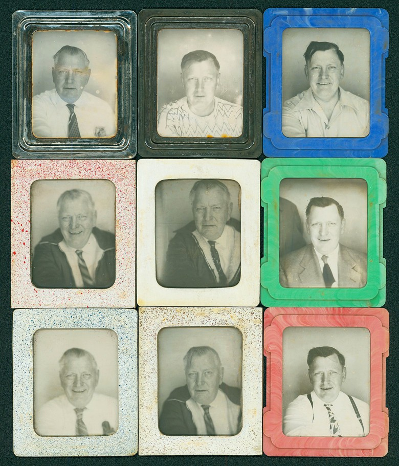 These are just nine of more than 400 photo booth portraits made by one unknown man.