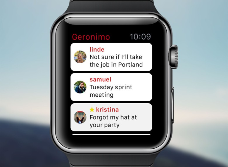 Geronimo on Apple Watch.