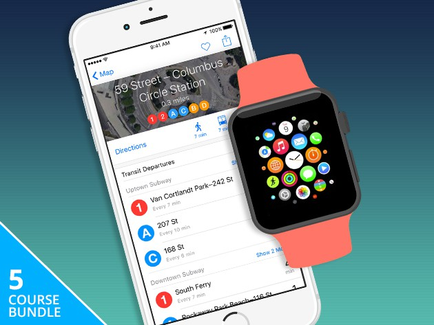This bundle of five courses bridges the worlds of iOS and Apple Watch developing.