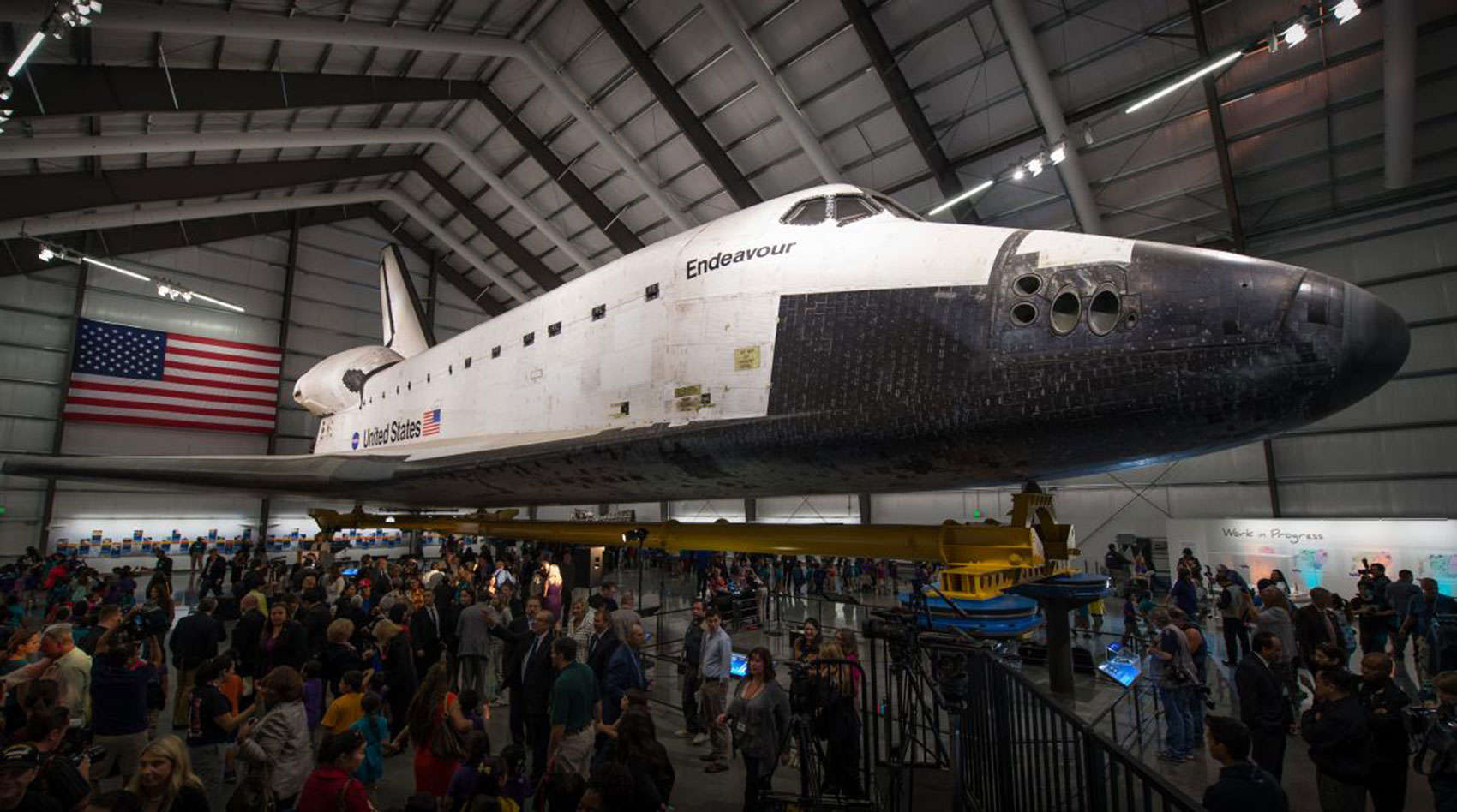 NASA recently pulled the water tanks from the space shuttle Endeavor.