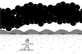 Surfers must avoid all the  ocean hazards.