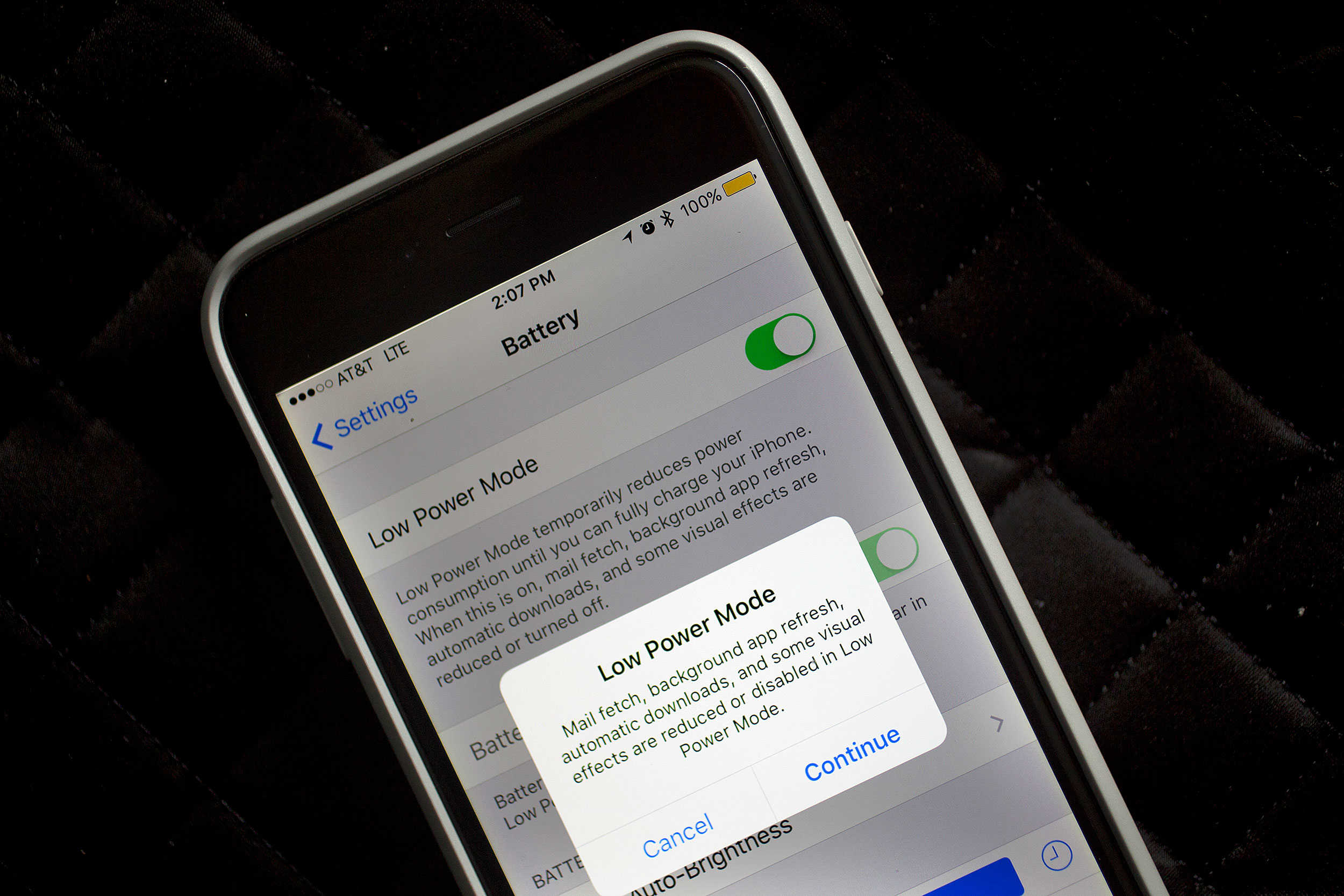 The new Low Battery Mode in iOS 9 means your device will last even longer than before.