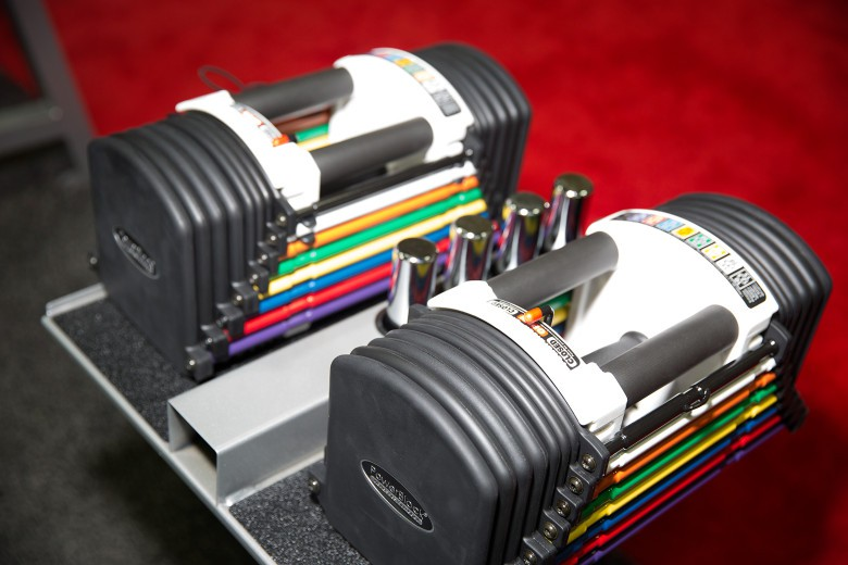 Replace all 24 sets of your dumbbells with one set of PowerBlocks.