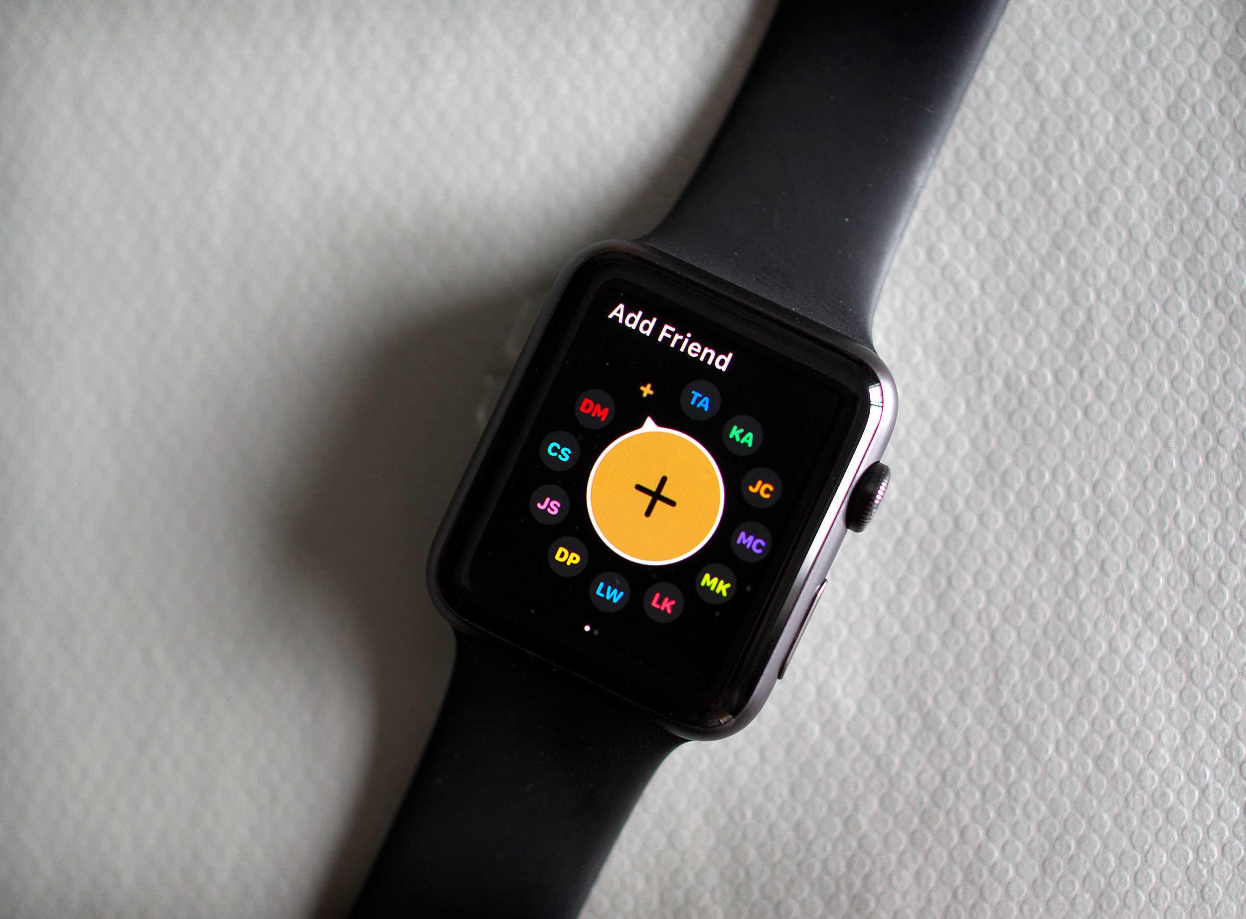 Apple Watch OS2 add a friend