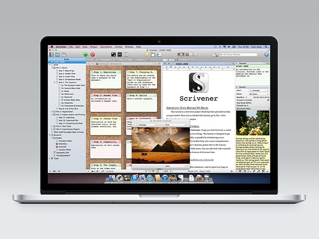Scrivener reinvents writing on the computer, making ideas, sources, and text available all at once.