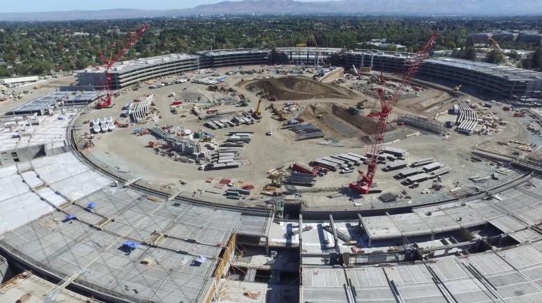 Apple Campus 2 flyover by Above Reno