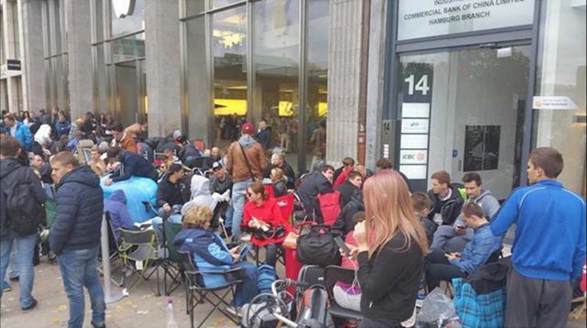 Apple Store Hamburg line iPhone 6s