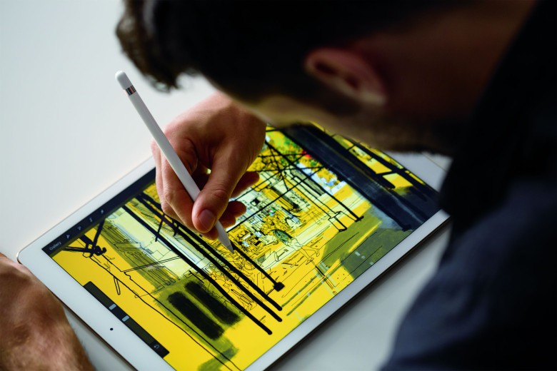 The Apple Pencil makes drawing on an iPad Pro incredibly precise.