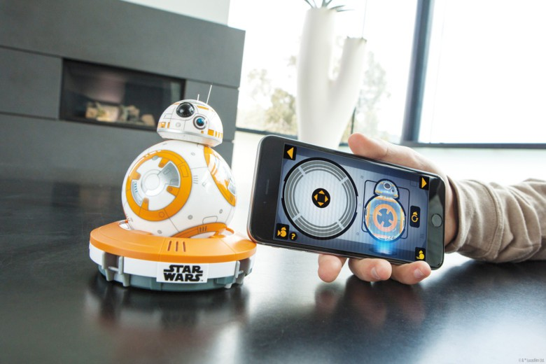 Once charged, BB-8 is ready for service based on an iOS or Android app and your voice commands.
