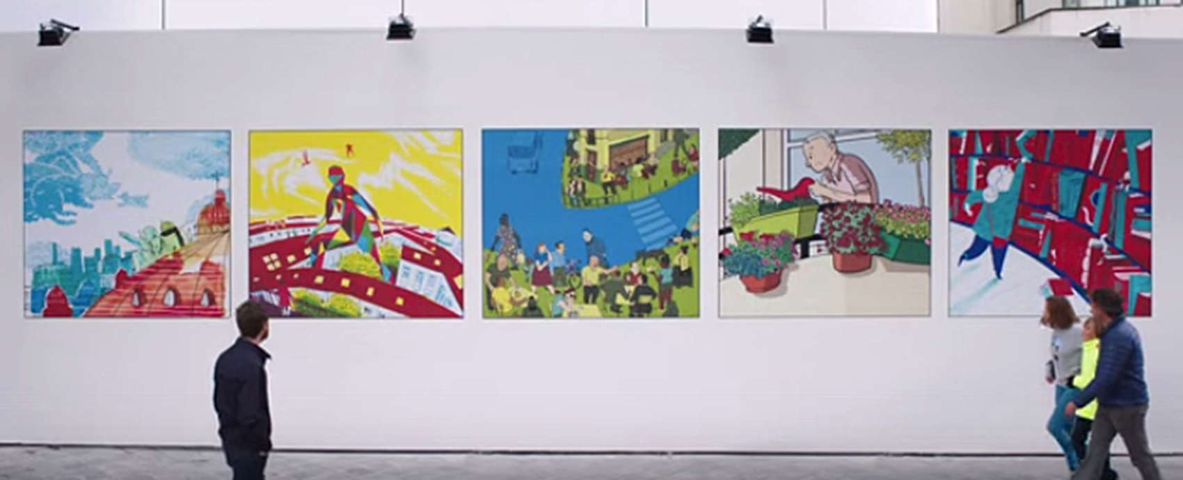 Apple asked Belgian's comic art community to help announce a new store in Brussels.